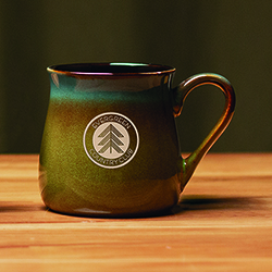 SANTA FE CERAMIC MUG BLUE TO G