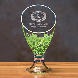 Galaxy Trophy Vase - Green