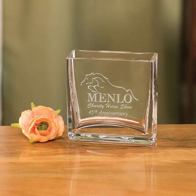 Medford Pocket Vase Sterling Cut Glass