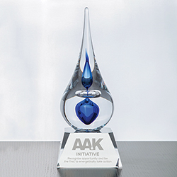 Neptune Teardrop Award - Blue