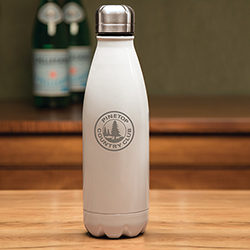 Boss White Water Bottle - 17 o