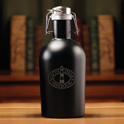 INSULATED BLACK GROWLER - 64 O