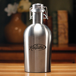 INSULATED SILVER GROWLER - 64