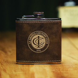 LEATHERETTE FLASK
