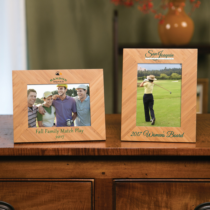 Bamboo Picture Frame 5x7 | Sterling Cut Glass