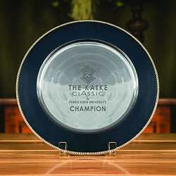 Fairfield Round Tray - Navy Blue